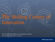 The Shifting Centers of Innovation