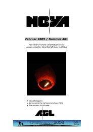 NOVA * Februar 2009 - Astronomische Gesellschaft Luzern