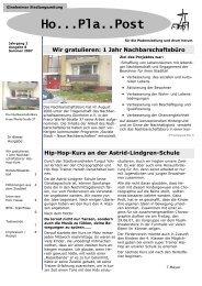 Ho...Pla..Post - Frankfurt - Soziale Stadt - Neue Nachbarschaften