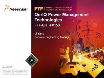 Multicore Expert Series: QorIQ Power Management Technologies