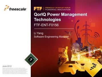 Multicore Expert Series: QorIQ Power Management Technologies