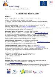 LANGUEDOC ROUSSILLON - Maison de la France