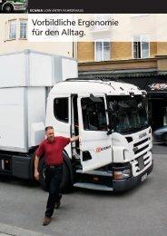 Scania Low-Entry-Fahrerhaus: Vorbildliche Ergonomie für den Alltag.