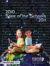 State of Schools page 1 - Forsyth County Schools