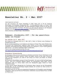 Newsletter Nr. 2 ? Mai 2007 - Frauenhaus Oberursel