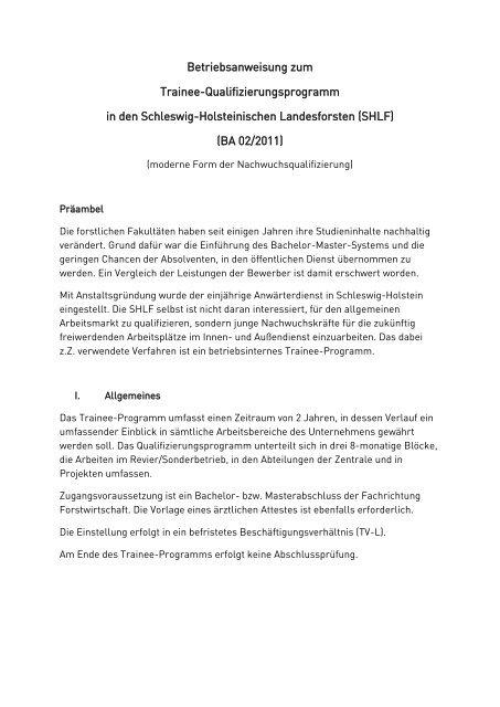 PDF 301 KB - Schleswig-Holsteinische Landesforsten