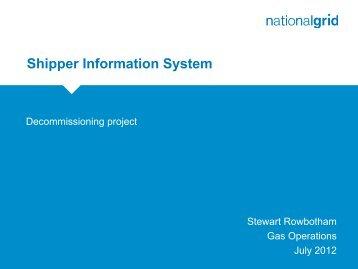 Shipper Information System - National Grid