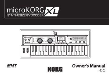 microKORG XL Owner's Manual