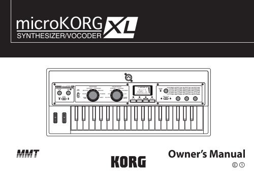 microKORG XL Owner's Manual