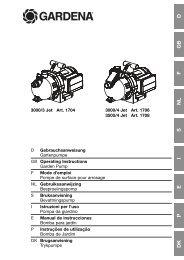 OM, Gardena, Pompe de surface pour arrosage, Art 01704-20, Art ...