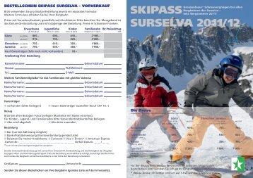SKIPASS SURSELVA 2011/12