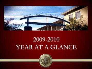FLORIDA state university schools 2009-2010