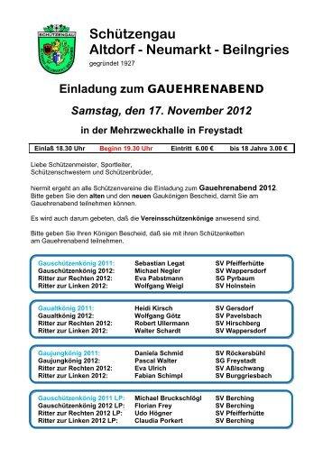 Schützengau Altdorf - Neumarkt - Beilngries - Gau ANB