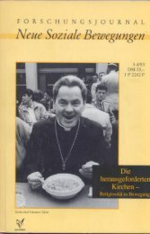 der Kirchen - Forschungsjournal Soziale Bewegungen