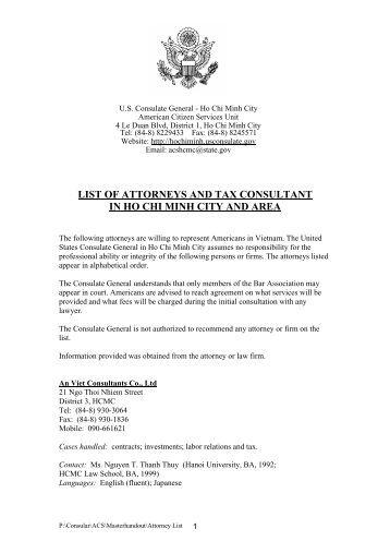Probate attorney list 10102 roq for List of consuls