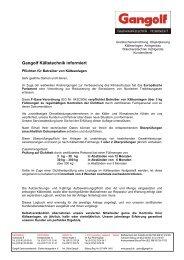 Pflichten für Betreiber von Kälteanlagen - Gangolf