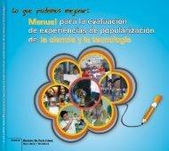 Manual para la evaluacion de experiencia cientificas