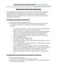 Charter Bus Procedure and Checklists - Gaston County Schools