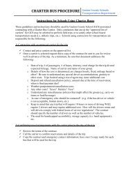 Charter Bus Procedure and Checklists - Gaston County Schools