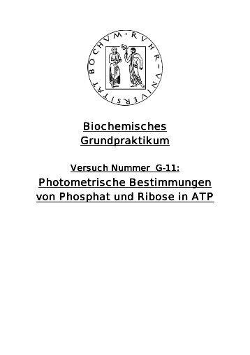 Photometrische Bestimmung von Phosphat und ... - funnycreature.de