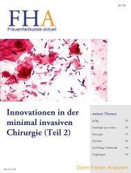 Innovationen in der minimal invasiven Chirurgie - Frauenheilkunde ...