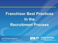 Franchisor Best Practices In the Recruitment Process