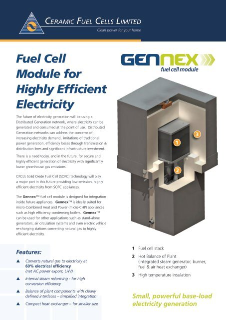 Gennex Brochure - Fuel Cell Markets