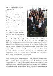 Auf ein Wort mit Dieter Berg - Jugend und freiwillige Dienste