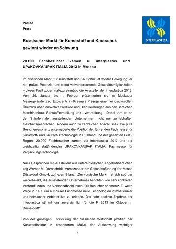 Russischer Markt für Kunststoff und Kautschuk ... - Gabriel Chemie