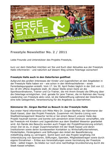 Freestyle Newsletter No. 2 / 2011