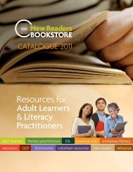 New Readers Bookstore Catalogue 2011 - Frontier College
