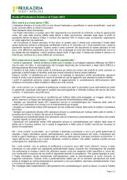 Guida all'Indicatore Sintetico di Costo (ISC) - Friuladria