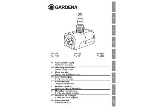 OM, Gardena, Garden Spring Pump, Art 07630-20, 2005-06
