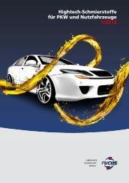 Hightech-Schmierstoffe für PKW und Nutzfahrzeuge 1/2013