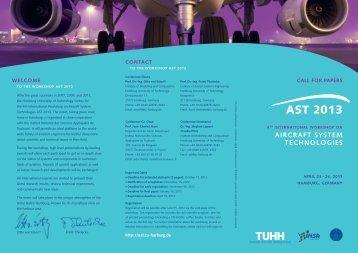 AST 2013 - International Workshop on Aircraft System Technologies