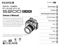 FINEPIX S200EXR Owner's Manual - Fujifilm