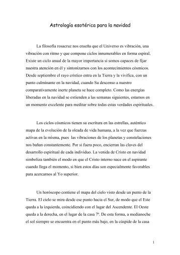 Astrología esotérica para la navidad - Fraternidad Rosacruz Max ...