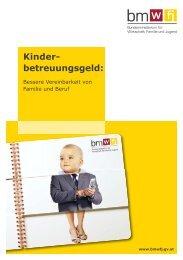 Kinderbetreuungsgeld 2009 - BMWA