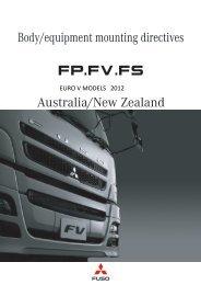 10 Technical data 10.6 Frame structure - Mitsubishi FUSO Trucks