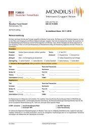 Anmeldeschluss: 30.11.2010 Reiseanmeldung - Frankfurter Presseclub