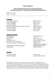 und Finanzausschusses am Donnerstag, 19. Januar 2012