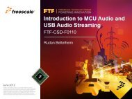 Introduction to MCU Audio and USB Audio Streaming