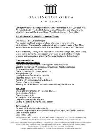 Garsington Opera is a prestigious festival with performances in June ...