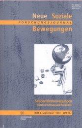 Vollversion (6.51 MB) - Forschungsjournal Soziale Bewegungen