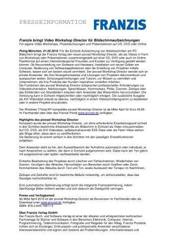 presseinformation - Franzis
