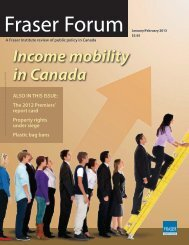 Fraser Forum - January-February 2013: Income mobility in canada ...