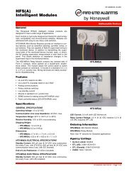 HFS(A) Intelligent Modules - Fire-Lite Alarms