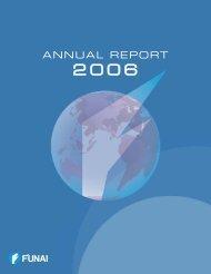 Annual Report 2006 [PDF:1815KB] - Funai