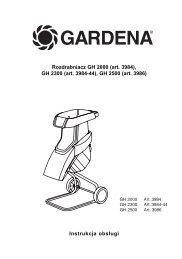 OM, Gardena, Rozdrabniacz GH 2000, Art 03984-20, Art 03984-44 ...