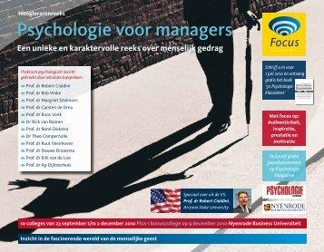 Psychologie voor managers - Focus Conferences